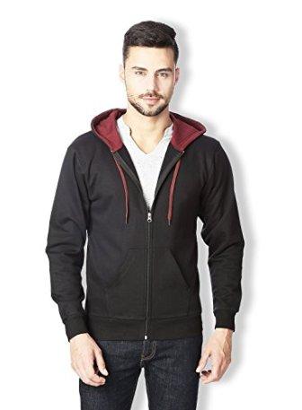 RODID Men's Cotton Full Sleeve Black Solid Casual Sweatshirt _HWSSWTZ-B-M