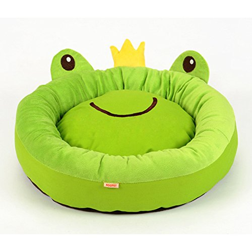 Cute Cozy Soft Cartoon Frog Pet Beds House For Cat Dog Puppy House