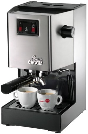 Gaggia Classic Semi-Automatic Espresso Maker. Pannarello Wand for Latte and Cappuccino Frothing. Brews for Both Single and Double Shots