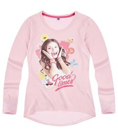 Disney-Soy-Luna-Chicas-Camiseta-mangas-largas-2016-Collection-Rosa