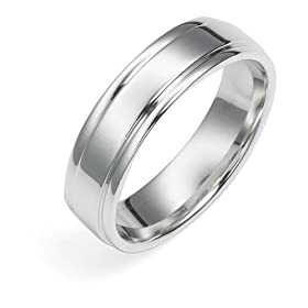 Mens wedding ring engravable