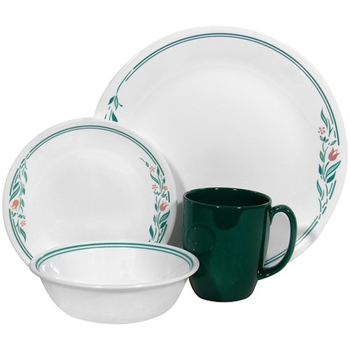 Corelle Livingware 16-Piece Dinnerware Set, Service for 4, Rosemarie