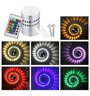 Wasinon®3W RGB bunte LED Lampe Wandlampe Wandleuchte Lampe Leuchte Moderne LED-Wandleuchte mit Streulicht Entwurf - Moderne Designerleuchte mit Fernbedienung