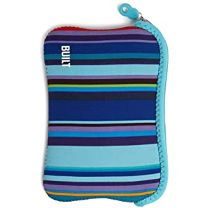 "BUILT Reversible Neoprene Kindle Cover (Fits 6"" Display, Latest Generation Kindle), Bowery Stripe and Scuba Blue"