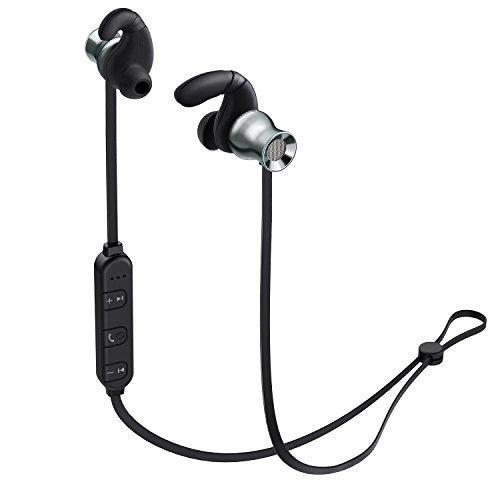 AUKEY Bluetoothイヤホン マグネット式 ワイヤレススポーツイヤホンマイク内臓 iPhone、Androind スマートフォンに対応 EP-B37