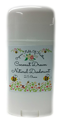 Organic & Natural Deodorant That Naturally Detoxes – Peachy Coconut Dream Scent – W/Organic Non-GMO Ingredients – For Women – Men – Kids – NO: Sulfates, Pthalates, Parabens, Aluminum, Or Dyes