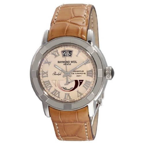 Raymond Weil Men's 2843-STC-00808 Parsifal Automatic Power Reserve Beige Dial Watch