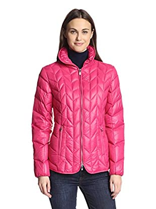 Via Spiga Women's Packable Down Jacket (Watermelon)