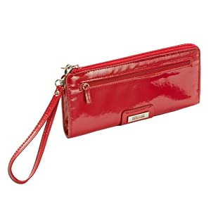 Kenneth Cole Reaction Red Patent Expandable Wristlet