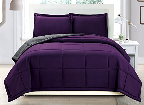 Luxury Purple Goose Down Comforter set
