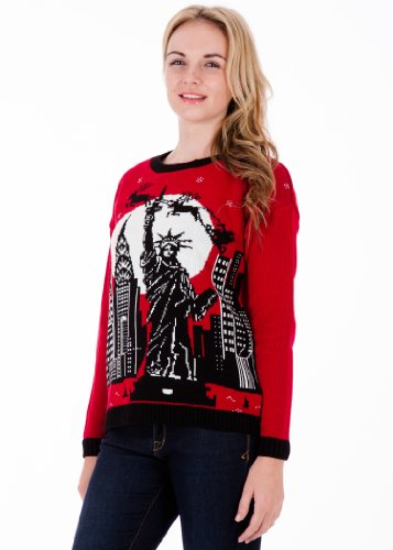 British Christmas Jumpers Women's Christmas in New York Christmas Sweater