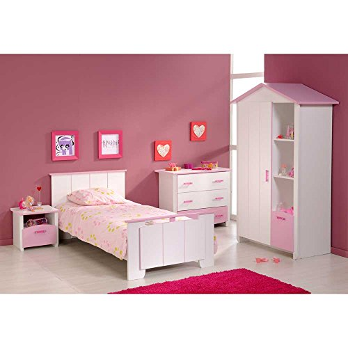 Komplettes Kinderzimmer Bett Schrank Kommode Lilith Pharao24