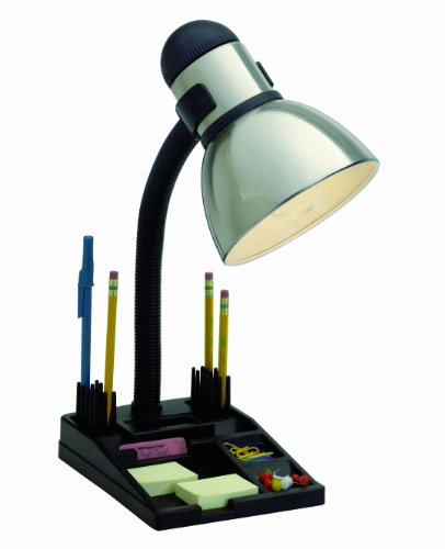 Satco Products SF76/356 Organizer Desk Lamp, Steel/Black