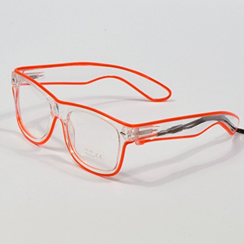 Huaosgoes Light Up Shutter Glasses El Wire Glasses for party/Festival Bar(Red)