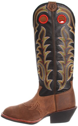 fc6792fb565 Tony Lama Men's RR1002 Boot,Tan Crazy Horse/Black Baron Calf,9 D US ...
