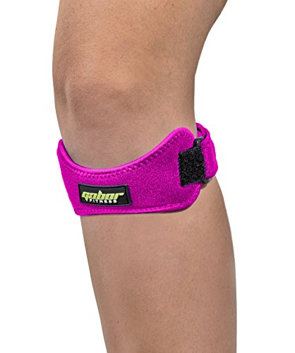 Gabor Fitness Tendon Patellar Knee Support Strap Band (Pair),Pink