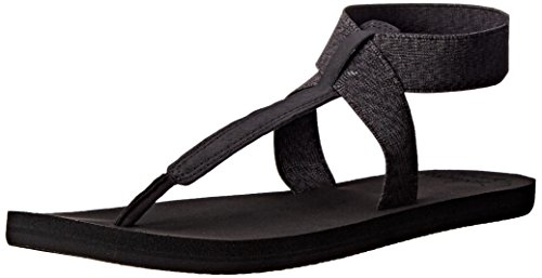 Reef Women's Reef Cushion Moon Flip Flop, Black, 6 M US