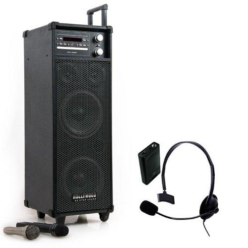 DJ PA Soundsystem CD MP3 DVD Player Radio Wireless Port-USB Funk Headset DJ-552