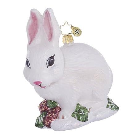 White Bunny Ornament