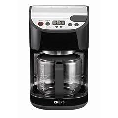 KRUPS KM4055 12-Cup Programmable Coffeemaker Black