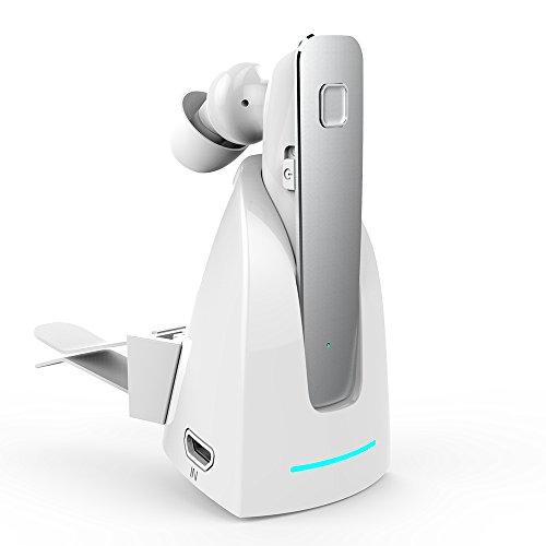 X-LIVE Bluetooth 片耳 イヤホン ワイヤレス ヘッドセット 高音質 小型軽量 マイク内蔵 Bluetooth イヤホン ホワイト-シルバー