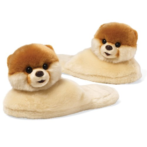Gund Boo The World's Cutest Dog Adult Sized Slippers 11