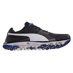 PUMA Men's Faas Xlite Golf Shoe, Black/White/Strong Blue, 9 M US