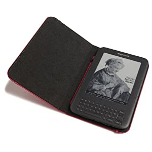 Kindle Leather Cover, Hot Pink (Fits Kindle Keyboard)
