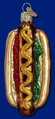 Old World Christmas Hot Dog Ornament
