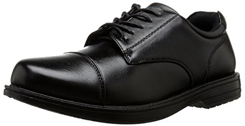 Deer Stags Men's Crest Oxford, Black, 10.5 M US
