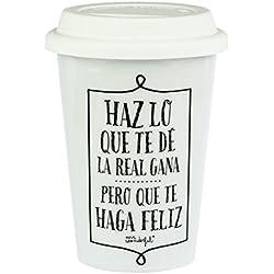 "Mr. Wonderful WOM02401 - Taza take away "" Haz lo que te dé la real gana"""