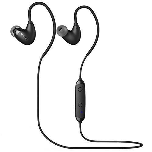 Aukey Bluetooth イヤホン ワイヤレスイヤホン ランニング用 スポーツイヤホン 高音質 内蔵式マイク EP-B16