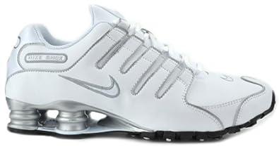Buy Nike Shox NZ SL White/White, Metallic Silver Mens Running Sneakers 366363-111 (8.5 M)