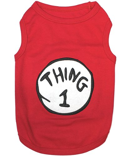 Pet Clothes THING 1 Dog T-Shirt - Small