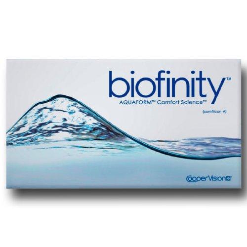 Cooper Vision Biofinity Monatslinsen weich, 6 Stück / BC 8.6 mm / DIA 14.0 / -2,50 Dioptrien