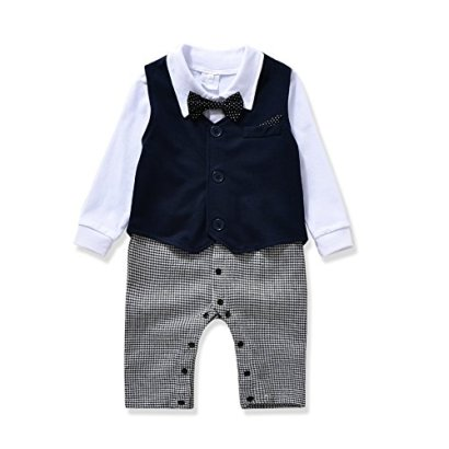 AJia-Gentleman-style-Baby-Boys-RomperMagaBowtie-3-Pieces-Clothes-Suit-2-Color-700-6-month-Blue