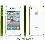 Sinjimoru InLite Ultra Thin 0.9mm Bumper Case for iPhone 4S AT&T & Verizon - CRYSTAL GREEN