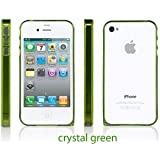 Sinjimoru InLite Ultra Thin 0.9mm Bumper Case for iPhone 4S AT&T & Verizon - CRYSTAL GREEN