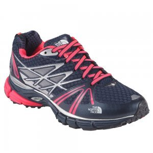 The North Face Ultra Equity Trail Running Shoe - Women's Cosmic Blue/Rocket Red, 10.0