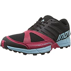 Inov-8 Women's Terraclaw 250 Trail Running Shoe, Black/Berry/Blue, 6 B US