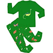 Babyroom Little boys Dinosaur Cotton Long Sleeve Pajama Set Size 2T-7T.