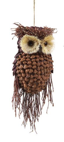 Rustic Style Owl Christmas Ornament