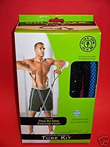 Amazon.com : Gold's Gym Long Series Resistance Tube Kit ...