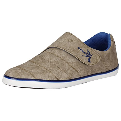 Kraasa 846 Men's Grey Blue Synthetic Leather Casual Shoes – 9Uk