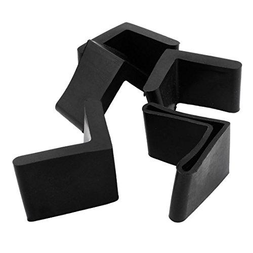40mm x 40mm L Winkeleisenbein Fuß Gummiabdeckung Schutz Schwarz 5 Stück