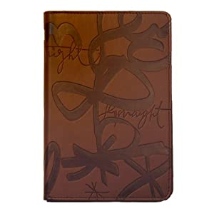 "Verso Kindle Cover, Urban Calligraphy by Sisters Gulassa (Fits 6"" Display, Latest Generation Kindle), Brown/Tan"