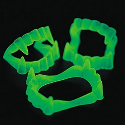 Glow In The Dark Fangs - 12 per pack