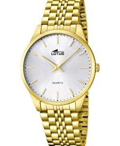 Lotus  15885/2 - Reloj de cuarzo para hombre, con correa de acero inoxidable, color dorado