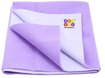 Bey Bee - Just Dry Waterproof Bed Protector Sheet, Violet/Purple, Large