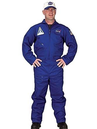 Amazon.com: Blue NASA Flight Suit Costume Jumpsuit Air ...
